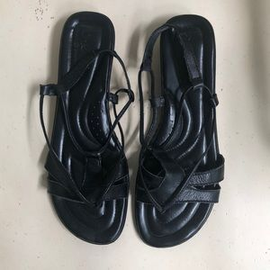 Born Concept black leather strapy sandals